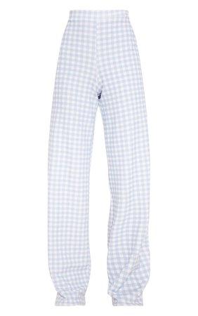 blue pants checkered