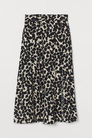 Circle Skirt - Light beige/black patterned - Ladies | H&M US