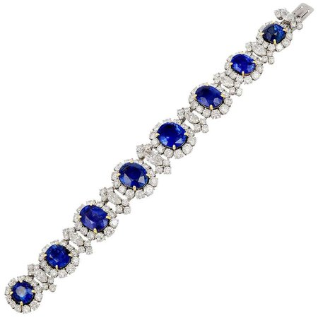 Bulgari Diamond, Sapphire Bracelet For Sale at 1stDibs