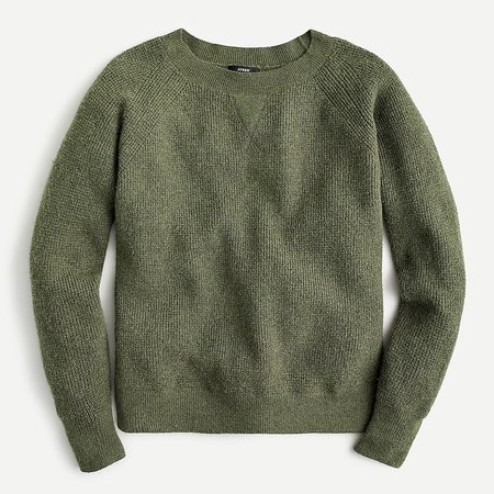 J.Crew: Waffle Crewneck Sweater In Supersoft Yarn For Women