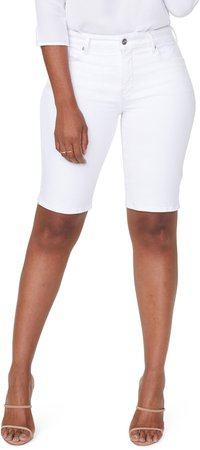 Side Slit Denim Shorts