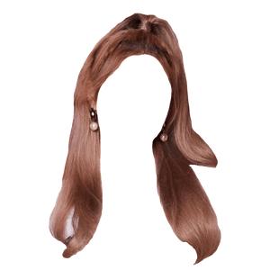 pink brown ish hair png half up