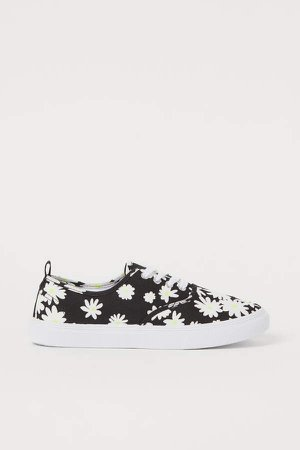 Canvas Sneakers - Black