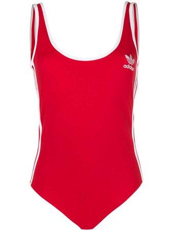 Adidas Three Stripe Scoop Back Bodysuit - Farfetch