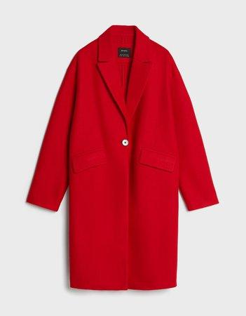 Drop shoulder coat - Outerwear - Woman | Bershka
