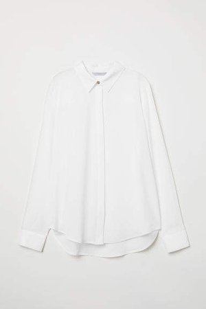 Long-sleeved Blouse - White
