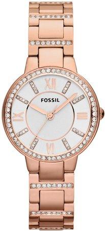'Virginia' Crystal Accent Bracelet Watch, 30mm