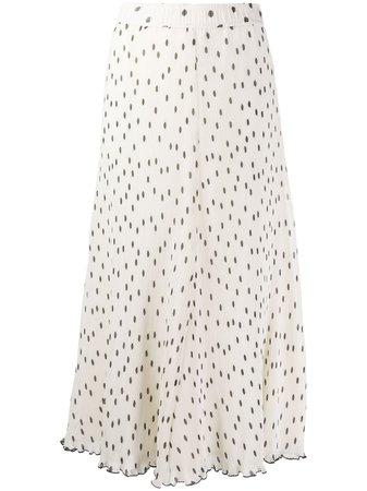 GANNI Polka Dot Midi Skirt - Farfetch