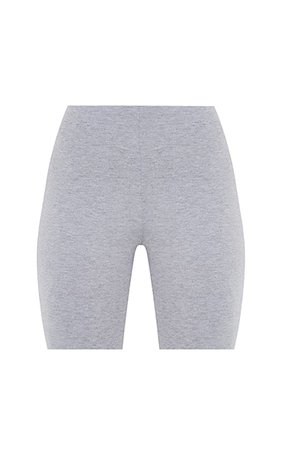 Basic Grey Cotton Blend Cycle Shorts   PrettyLittleThing USA