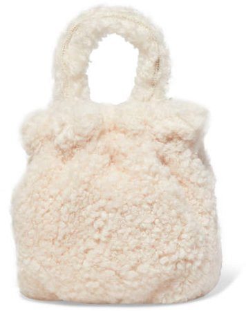 Grace Shearling Tote - White