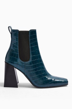 HARBOUR Teal Chelsea Boots | Topshop