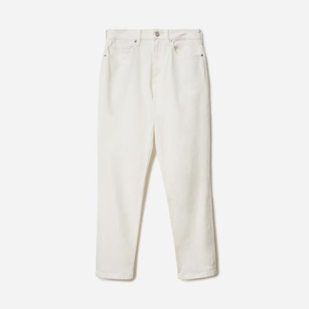 Women's Curvy Cheeky Straight Jean | Everlane white