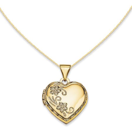 Floral Heart Locket in 14K Gold | Lockets | Necklaces | Zales