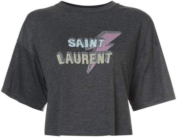 cropped lightening bolt T-shirt