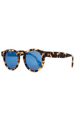 illesteva Leonard in Tortoise & Blue Mirrored | REVOLVE