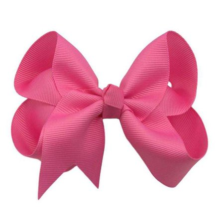 Hot Pink Hair Bow – The Solid Bow