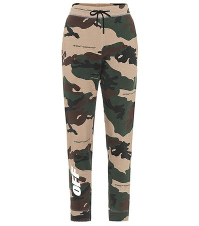 Camouflage cotton sweatpants