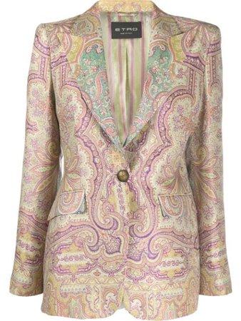 Neutral Etro Paisley-Print Blazer For Women | Farfetch.com