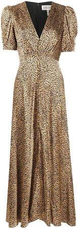 Leopard-Print Silk Dress