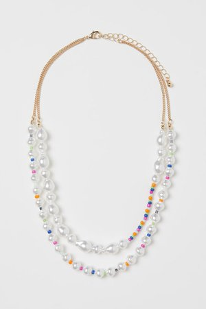 tiered strand Necklace - Gold white - Ladies | H&M US
