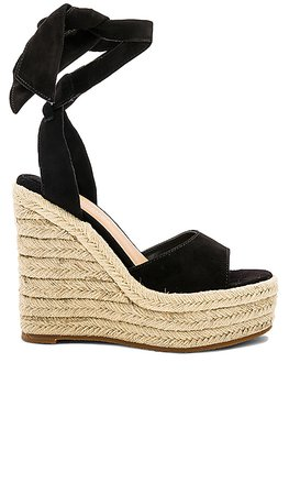 Tony Bianco Barca Wedge in Black Suede | REVOLVE
