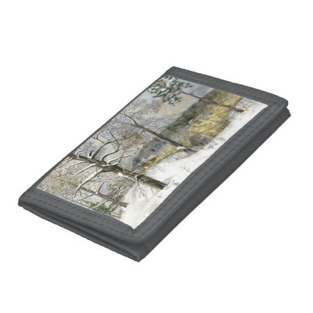 winter bridge tri-fold wallet | Zazzle.com