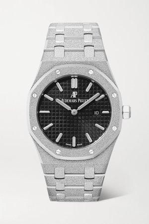 White gold Royal Oak 33mm 18-karat frosted white gold watch | Audemars Piguet | NET-A-PORTER