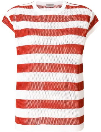 MRZ striped embroidered T-shirt