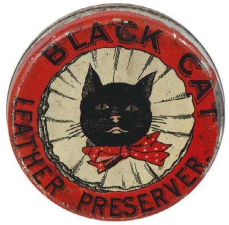 black cat bottle cap