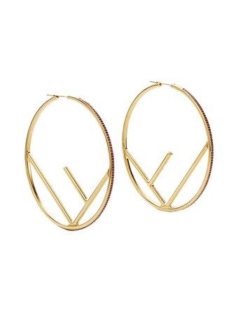 F Is Fendi Earrings | Farfetch.com