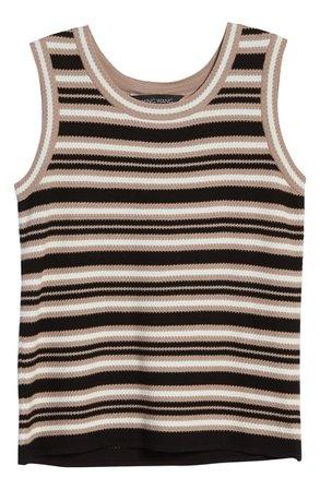 Ming Wang Textured Stripe Knit Tank | Nordstrom