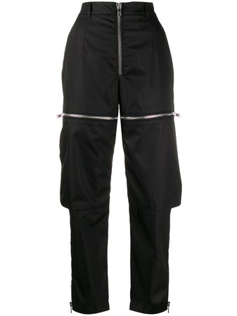 Black Prada Zipped Cargo Trousers | Farfetch.com