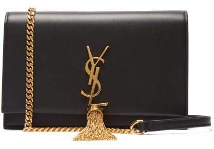 Kate Tasselled Leather Cross Body Bag - Womens - Black