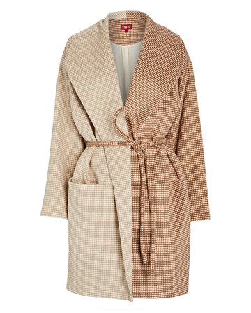 STAUD Chiba Two-Tone Wrap Coat | INTERMIX®