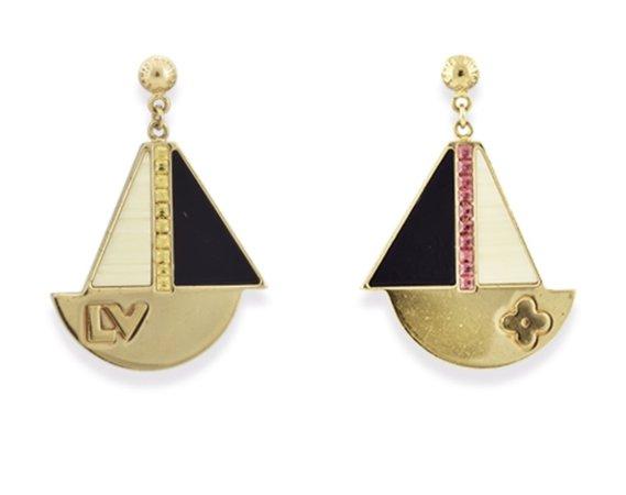 louis vuitton nautical sailboat earrings