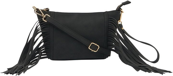 Mini Fringed Vegan Leather Crossbody Bag