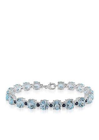 Belk & Co. Sterling Silver Blue Topaz and Sapphire Bracelet