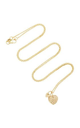 Two Hearts 18k Gold Diamond Necklace By With Love Darling