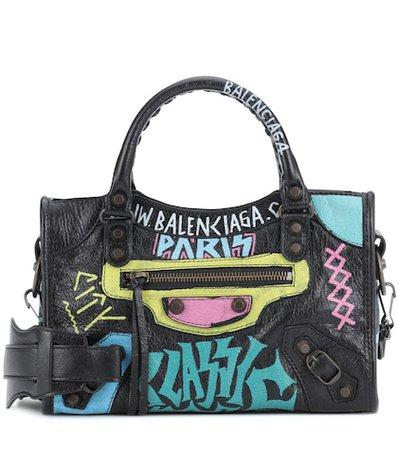 Classic City Graffiti Small leather tote