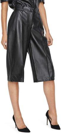 Paulina Faux Leather Bermuda Shorts