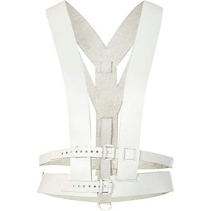 White leather body harness - body chains