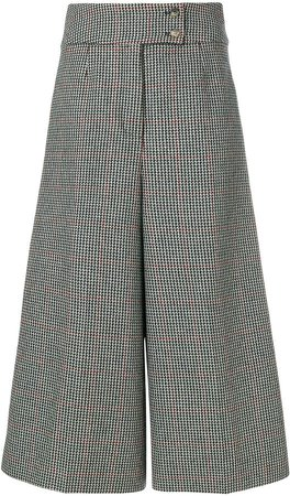 Holland & Holland high-waisted checked culottes