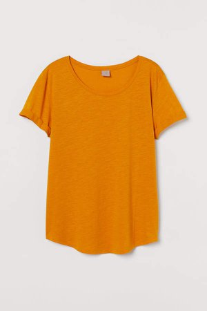 H&M+ Modal-blend T-shirt - Yellow