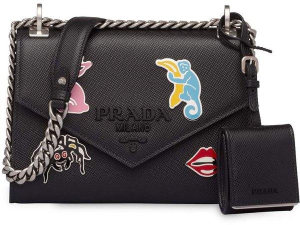 Applique Detail Envelope Shoulder Bag