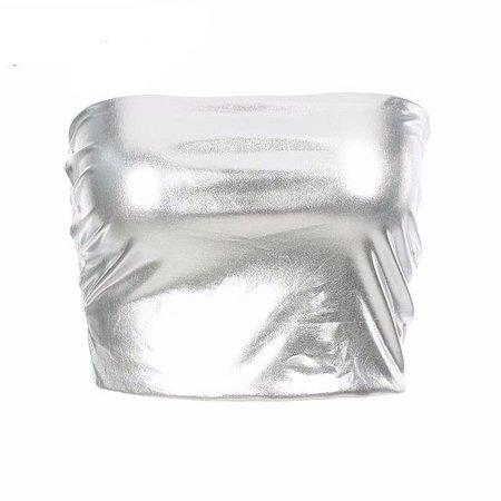 Silver Crop Top