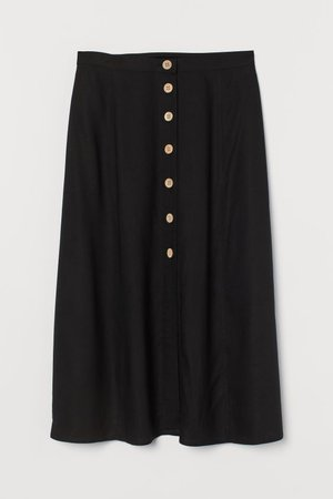 Button-front skirt - Black - | H&M GB