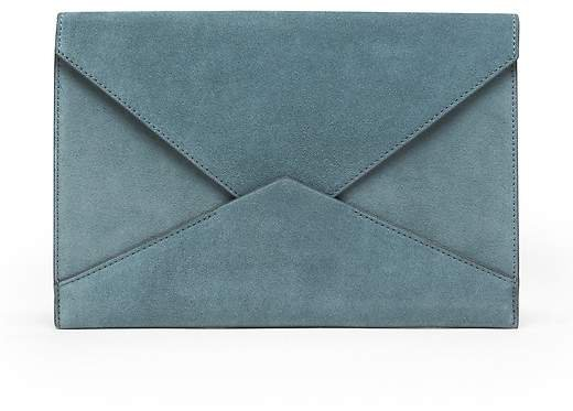 Italian Suede Expandable Envelope Pouch