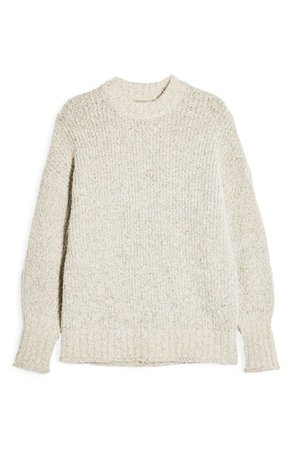 Topshop Bouclé Sweater White