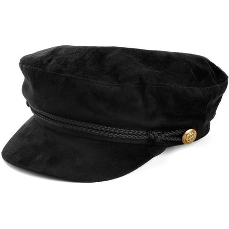 Black Braided Cabby Hat