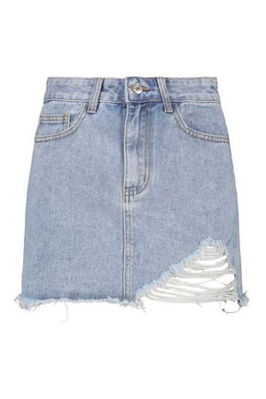 Distressed Denim Skirt | boohoo